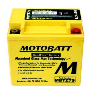 Motobatt MBTZ7S AGM Premium Motorcycle Battery 130CCA YTX5L-BS YTX5LBS YTZ7S