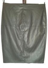 DP BLACK Faux LEATHER/RUBBER PU Knee SKIRT L uk16eu42us12 Waist w36ins w91cms