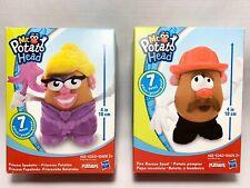 2 Lot Mr Potato Head Princess Spudette & Fire Rescue Spud Playset NEW!