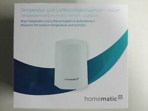 Homematic IP Temperatur- und Luftfeuchtigkeitssensor außen weiß