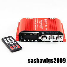 NEW DC12V 20W*2 Car Motorcycle Amplifier USB SD FM WMA MP3 Digital Player