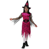 ragazze Rubies elegante STREGA BAMBINI BAMBINI MAGICA COSTUME HALLOWEEN