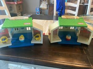 Lot Of 2 LITTLE TIKES COUNTRY COTTAGE play HOUSE & 2 PEOPLE TODDLE TOT FAMILY