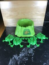 Cranium Balloon Lagoon Frog Pond & 4 Frogs Replacement Part Piece Carnival Game