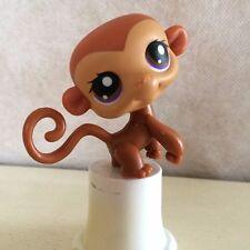 Littlest Pet Shop #56 Brown & Tan Monkey w/ Brown & Purple Eyes LPS - 6 pictures