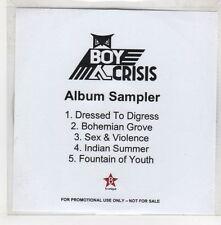 (GQ882) Boy Crisis, 5 track album sampler - DJ CD