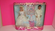 Mattel 1996 Barbie and Ken Wedding Fantasy Deluxe Gift Set Vintage Doll