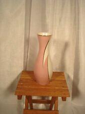"""Mitterteich Bavaria Vase Cream Rose Gold Trim 10.75"""" T Vintage Mid-Cent Modern"""