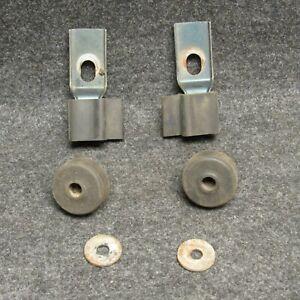 1990-1994 Subaru Loyale Hood Stop Stops Bumper 4 Piece Set OEM E801