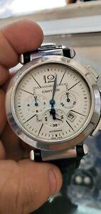 Cartier Pasha Silver Men's Watch - W3108555 Ref. 2860 autentico