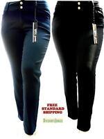 1826 denim jeans HIGH WAIST WOMENS PLUS SIZE pants SKINNY LEG BLUE/BLACK PL-HW26