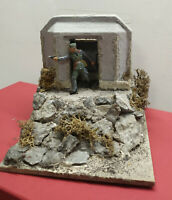 Diorama soldatino in azione Bunker model toy soldiers base miniatures play set