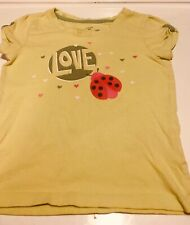 Little Girls Top By Faded Glory Yellow With Lady Bug....Size 6