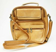 Very Useful Men's Shoulder Yellow Bag. Made In Colombia From Phenomenal Leather.