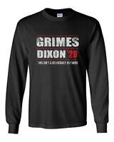 548 Grimes Dixon 2020 Long Sleeve Shirt election president walking zombie dead
