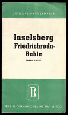 Wanderkarte, Inselsberg - Friedrichroda - Ruhla, um 1956