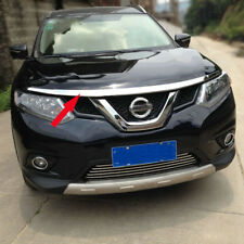 Fit Nissan X-Trail Rogue 2014 2015 2016 2017 Hood Grill Cover Bonnet Trim ABS