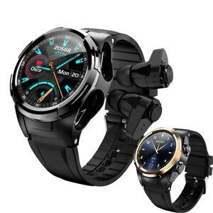2020 New Smart Watch Bluetooth Earphone 2 in 1 Heart Rate Blood Pressure Monitor