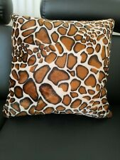 Cushion.Giraffe Print Soft Faux fur.Cushion With Zip And Extra Filled Inner...