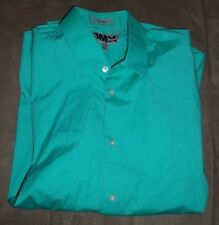 1MX Express Men's Long Sleeve Green Shirt Fitted L 16-16 1/2    !!!MUST SEE!!!