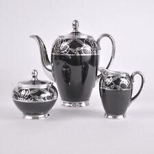 Service à café en porcelaine de Rosenthal AIDA monté en argent Allemagne