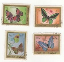 Butterflies Used Middle Eastern Stamps