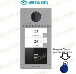 Hikvision Videocitofono 2mpx Wifi DS-KV8213-WME1 Pulsantiera 2 chiamate