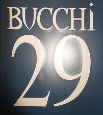 ascoli kit BUCCHI bianco plastica Nameset maglia calcio legea