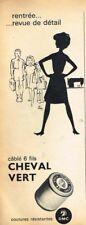 K- Publicité Advertising 1963 Le Fil Cheval Vert DMC