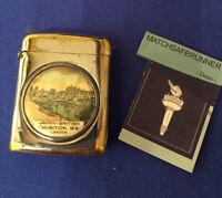 JAPAN BRITISH EXHIBITION 1910 LONDON MATCH HOLDER VESTA CASE MATCH SAFE STRIKER