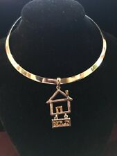 Realtor Jewelry Necklace/Choker With Sold House Pendant New!