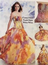PC Marys Special Occasional Evening Prom Sweet 16 Canary  Ball Gown.s 8.$552.00