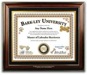 Labrador Retriever PERSONALIZED CERTIFICATE Diploma - Dog Tag Toy - Lover GIFT