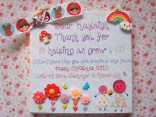 PERSONALISED END TERM SCHOOL CHILDMINDER TEACHER CHRISTMAS THANK YOU GIFT PLAQUE