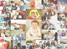 """Collage canvas print stretched on wooden frame 30""""x20"""" Great Family Gift"""