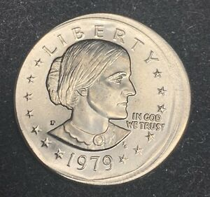 UNC 1979-P Major Broadstruck Mint Error Susan B Anthony Dollar $1 Uncirculated