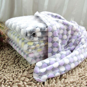 Non Slip Pet Soft Blanket Dog Puppy Bed Pad Cute Coral Fleece Mat for Home Deor