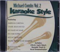 Michael Combs Volume 2 Christian Karaoke Style NEW CD+G Daywind 6 Songs