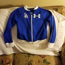 LOS ANGELES DODGERS SWEATER - YOUTH SMALL - UNDER ARMOUR - ZIP UP - BLUE