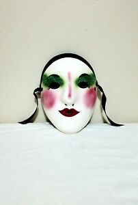 Fancy Faces Porcelain Face Mask, Wall Hanging Decor