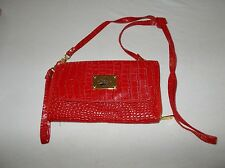 Small sized faux red alligator Beverly Hills Polo Club Women's handbag purse