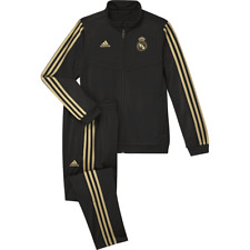 adidas Real Madrid CF Kid's 2019/20 Tracksuit - 11-12 Years - Black - New