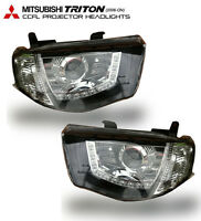 CCFL PROJECTOR HEADLIGHT SMOKE LENS FOR MITSUBISHI TRITON L200 MN ML 05-14