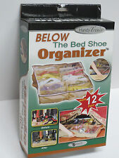 Below the bed Shoe Organizer/Storage for 12 pairs;dust protect; Brand New unused
