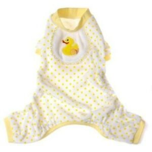 Pooch Outfitters - Dog yellow ducky pajamas gender neutral Medium