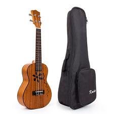 Kmise 23 Inch Mahogany Concert Ukulele Hawaii Guitar Carved Footprint with Bag