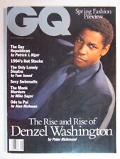 GQ MAGAZINE JANUARY 1994 DENZEL WASHINGTON, KISS (4 PAGES), FRANK SINATRA JR.OOP