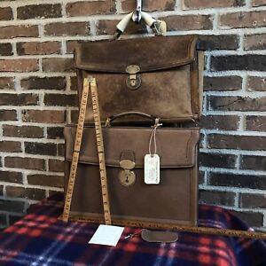 RARE FIND NEW VINTAGE 1970s BOARS HIDE LEATHER MACBOOK BRIEFCASE BAG R$2798