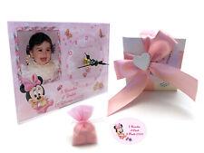 Bomboniere  battesimo compleanno OROLOGIO minnie personalizzato con foto