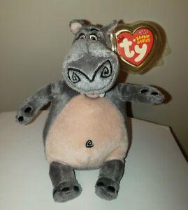 Ty Beanie Baby - GLORIA the Hippo (Madagascar Movie) MINT with MINT TAGS